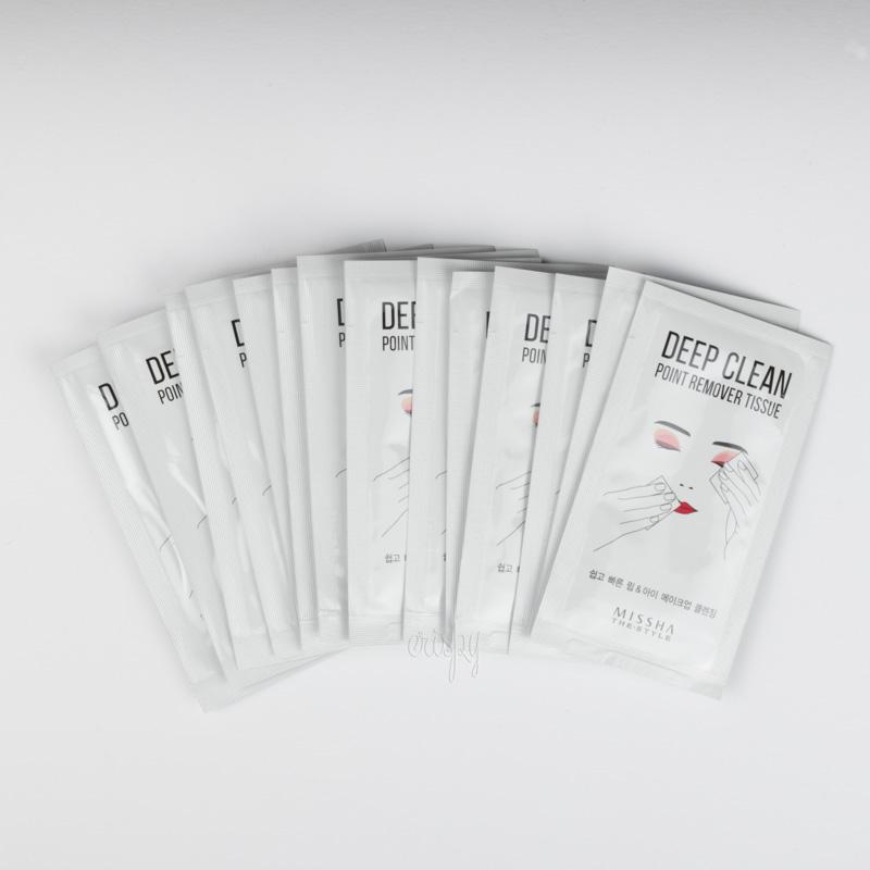 Салфетки для снятия макияжа матирующие The Style Deep Clean Point Remover Tissue MISSHA - 15 шт