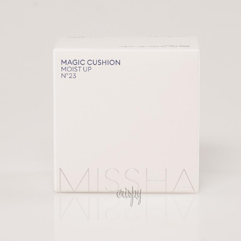 Тональный кушон с солнцезащитным фактором + сменный блок Missha Magic Cushion Moist UP SPF50+ PA+++ & Refill 15 г+15 г