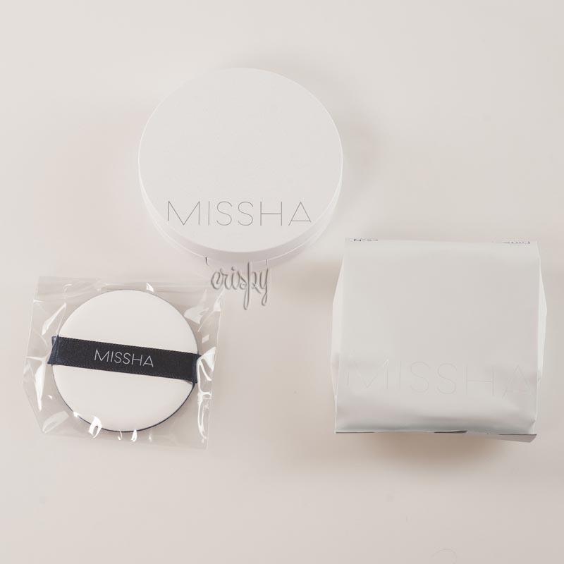 Тональный кушон с солнцезащитным фактором + сменный блок Missha Magic Cushion Moist UP SPF50+ PA+++ & Refill 15 г+15 г - Фото №2