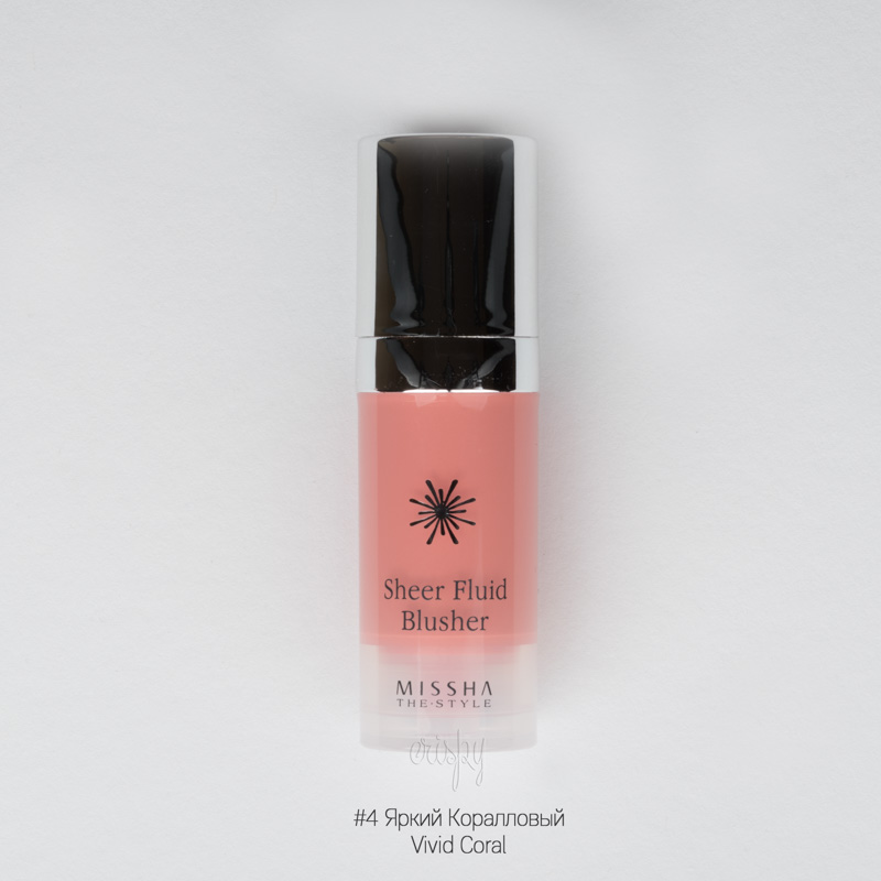 Светящиеся румяна-флюид The Style Sheer Fluid Blusher MISSHA - 10 мл