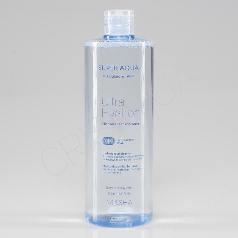 Мицеллярная вода MISSHA SUPER AQUA ULTRA HYALRON MICELLAR CLEANSING WATER - 500 мл