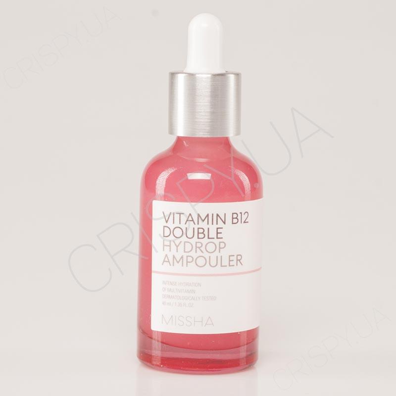 Витаминная сыворотка для восстановления кожи MISSHA VITAMIN B12 DOUBLE HYDROP AMPOULER - 40 мл