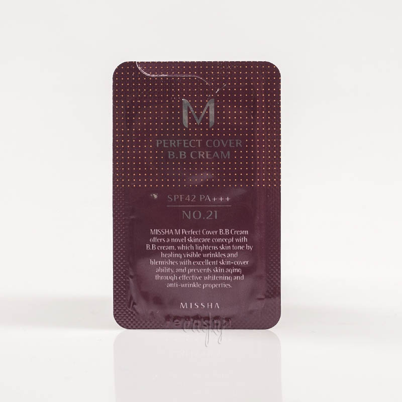 Пробник ББ крема MISSHA Perfect Cover BB Cream SPF42