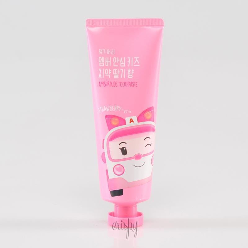 Зубная паста детская с клубникой Daeng Gi Meo Ri Amber Kids Toothpaste Strawberry - 100 г - Фото №2