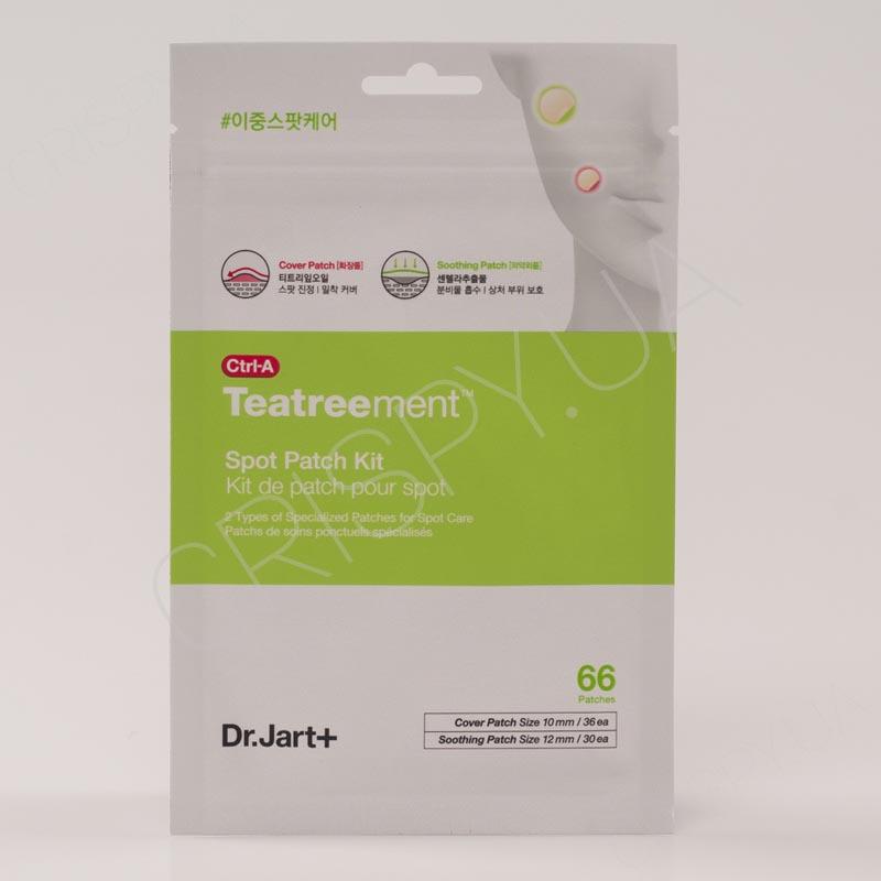 Патчи против прыщей и постакне Dr. Jart+ Ctrl-A Teatreement Soothing Spot Patch kit - 66 шт.