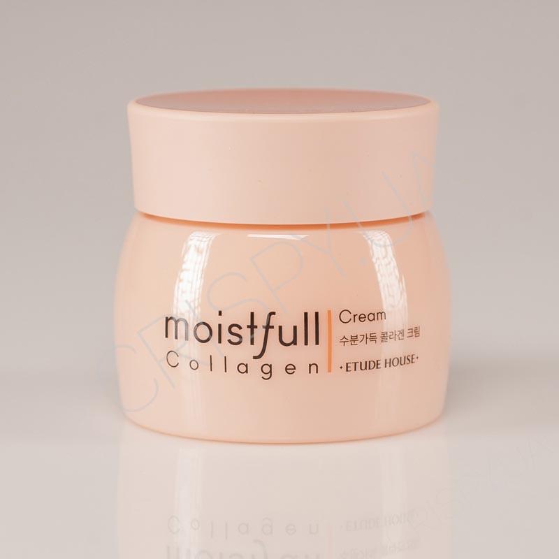 Омолаживающий крем для лица с коллагеном Etude House Moistfull Collagen Cream - 75 мл - Фото №2