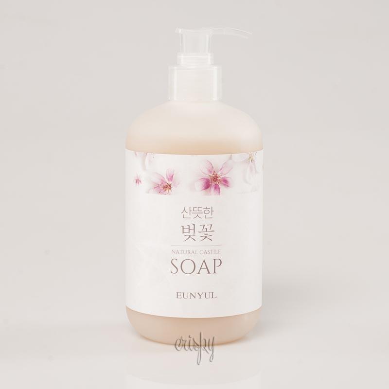 Жидкое мыло для лица на оливковом масле с экстрактом вишни Eunyul Fragrant Cherry Blossom Natural Castile Soap - 500 мл