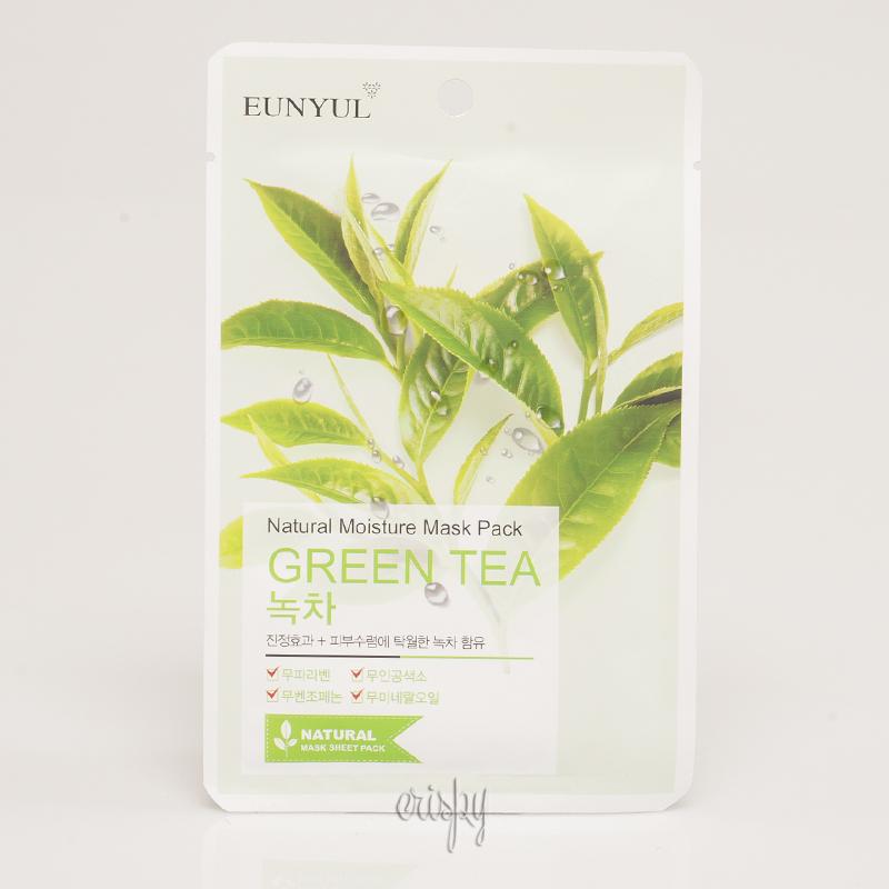 Увлажняющая тканевая маска с зеленым чаем EUNYUL Natural Moisture Mask Pack-Green Tea - 25 мл - Фото №2