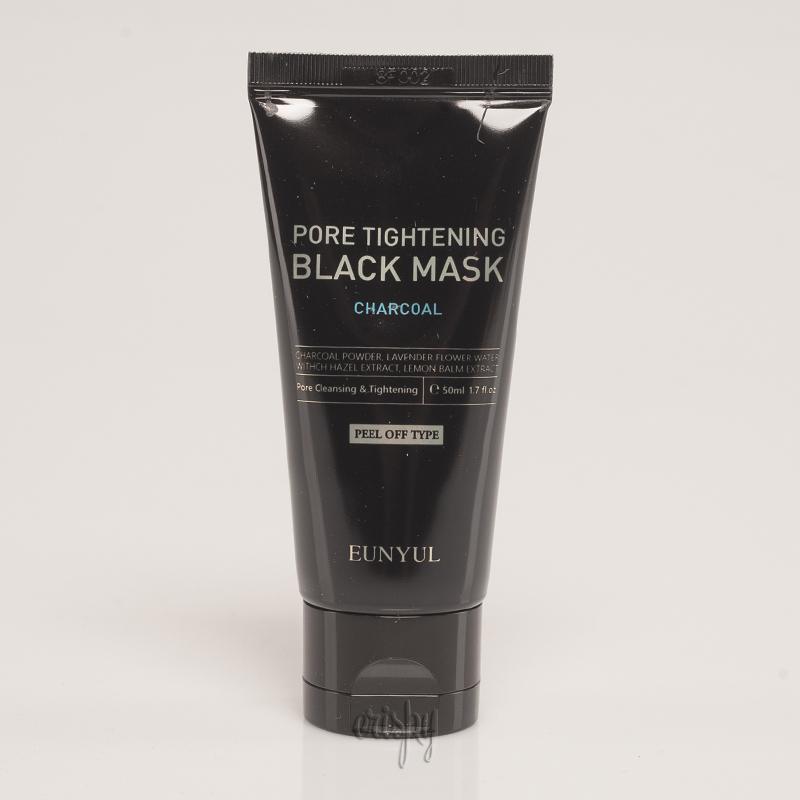 Маска-пленка для сужения и чистки пор с древесным углем EUNYUL Pore Tightening Black Mask - 50 мл - Фото №2