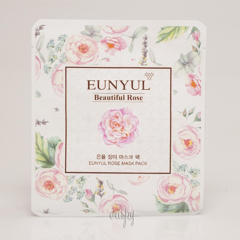 Тканевая маска для смягчения кожи EUNYUL Rose Mask Pack - 30 мл - Фото №2