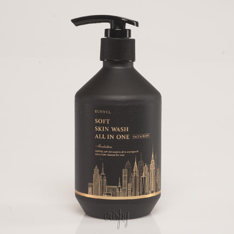 Многофункциональный очищающий гель для мужчин EUNYUL Soft Skin Wash All In One - 250 мл - Фото №2