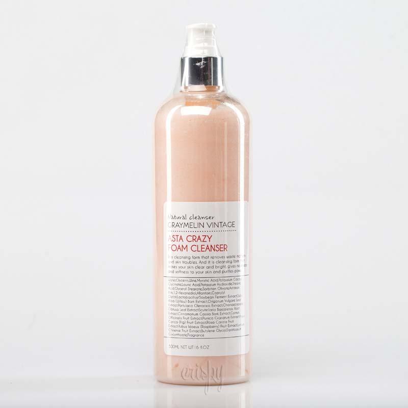 Очищающая пенка для умывания с шиповником и комплексом ягод GRAYMELIN Crazy Foam Cleanser (Asta) - 500 мл