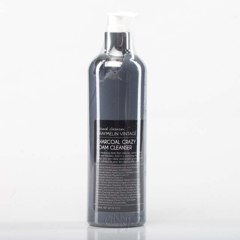 Очищающая пенка для умывания на основе морской воды с древесным углем GRAYMELIN Crazy Foam Cleanser (Charcoal) - 500 мл