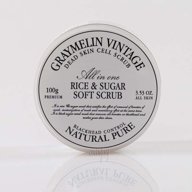 Скраб для лица с черным сахаром и рисом Graymelin Rice & Sugar Soft Scrub - 100 мл