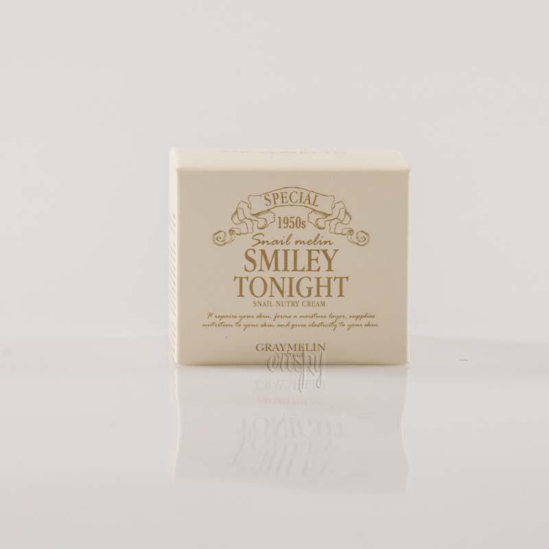 Крем для лица с муцином черной улитки GRAYMELIN Smiley Tonight Snail Nutry Cream - 50 мл