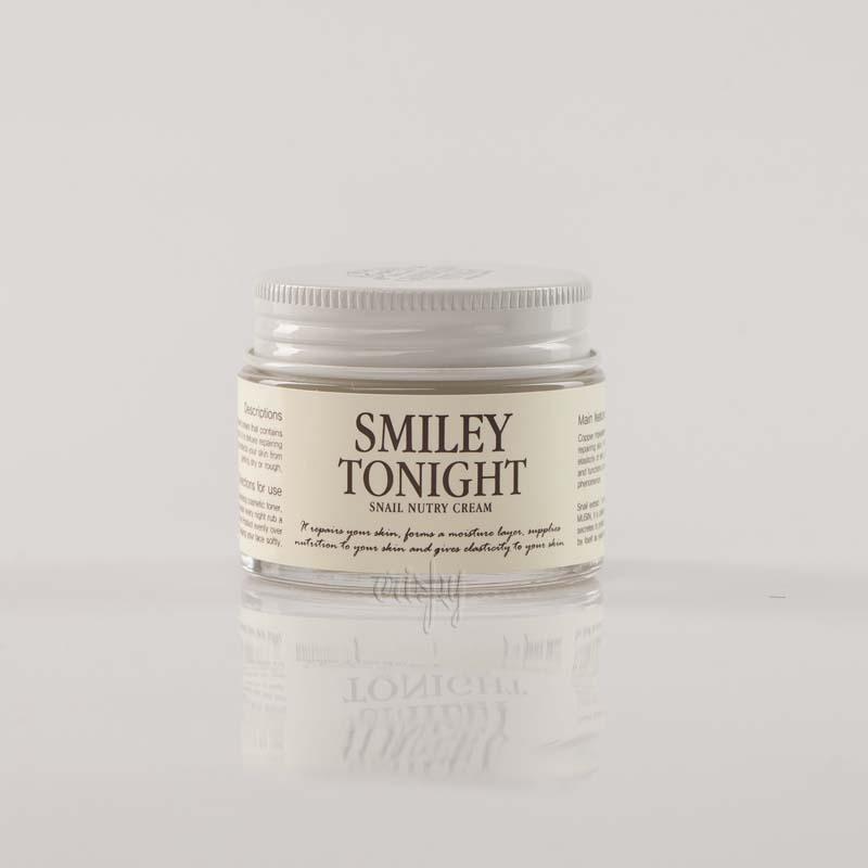 Крем для лица с муцином черной улитки GRAYMELIN Smiley Tonight Snail Nutry Cream - 50 мл - Фото №2