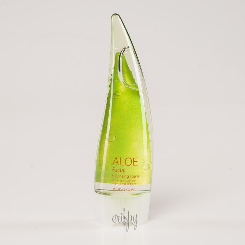 Пенка для умывания лица с соком алоэ Holika Holika Aloe Facial Cleansing Foam - 150 мл - Фото №2