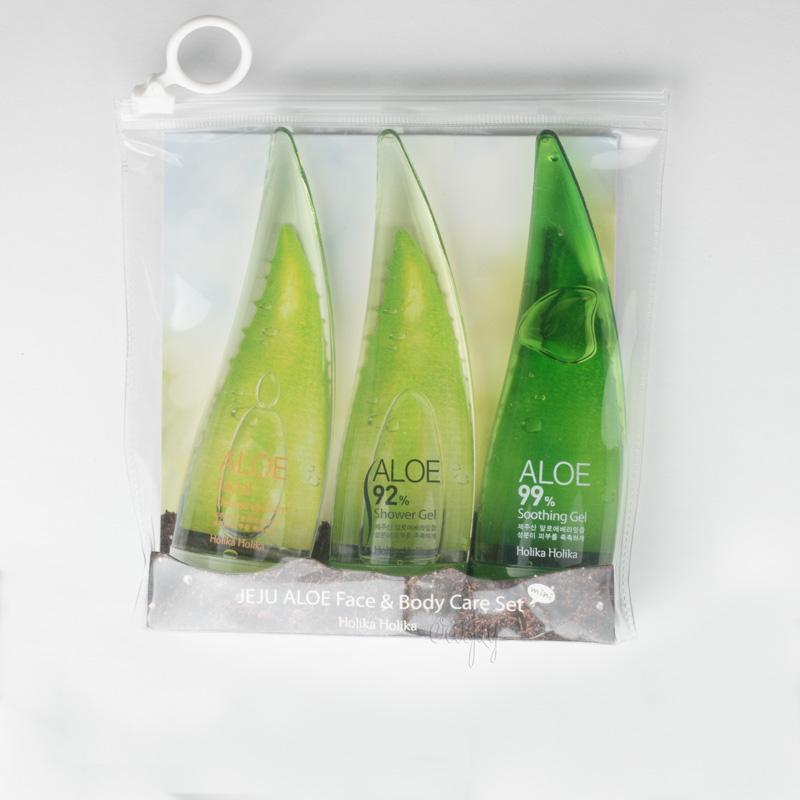 Набор для лица и тела с экстрактом алоэ вера Holika Holika Jeju Aloe Face And Bodycare Set - 3*55 мл