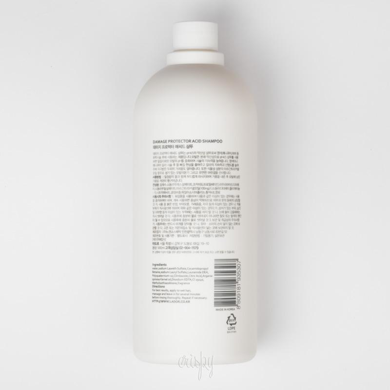 Шампунь для завитых и окрашенных волос LADOR Damaged Protector Acid shampoo 900ml