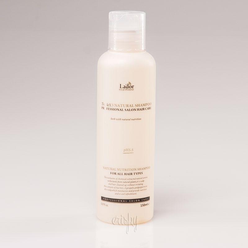 Органический шампунь с растительными экстрактами Triplex Natural Shampoo Lador - 150 мл