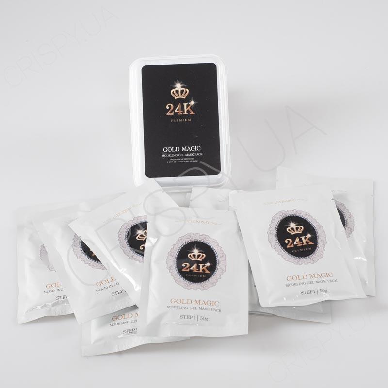 Набор альгинатных масок с золотом Lindsay Gold Magic Modeling Gel Mask Pack - 10 сетов