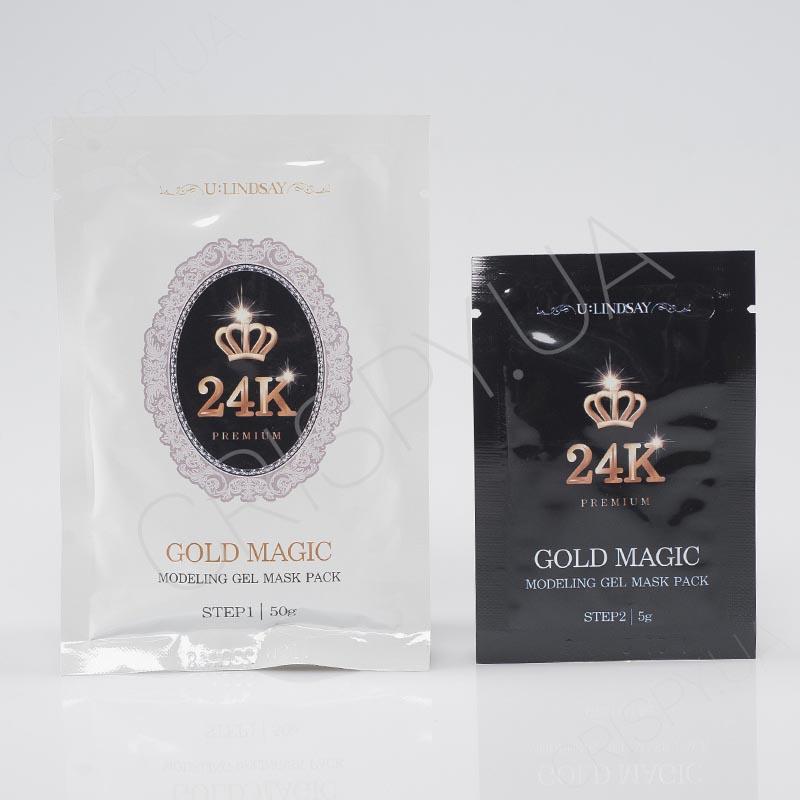 Альгинатная маска с золотом Lindsay Gold Magic Modeling Gel Mask Pack - 50 г+5 г