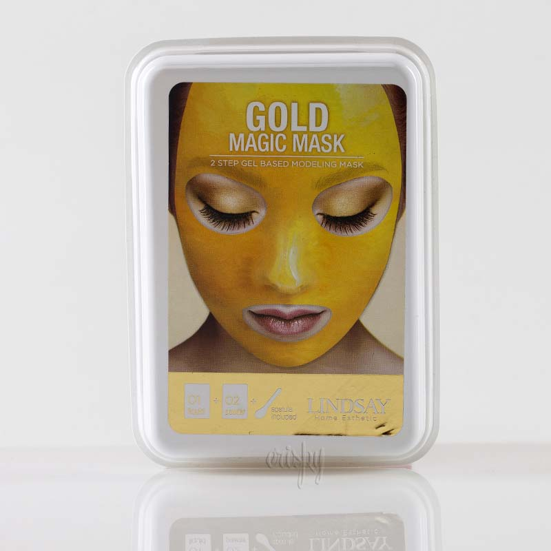 Альгинатная маска для лица с коллоидным золотом Lindsay Luxury 24K Gold Magic Mask - 65 г + 15 г  - Фото №2