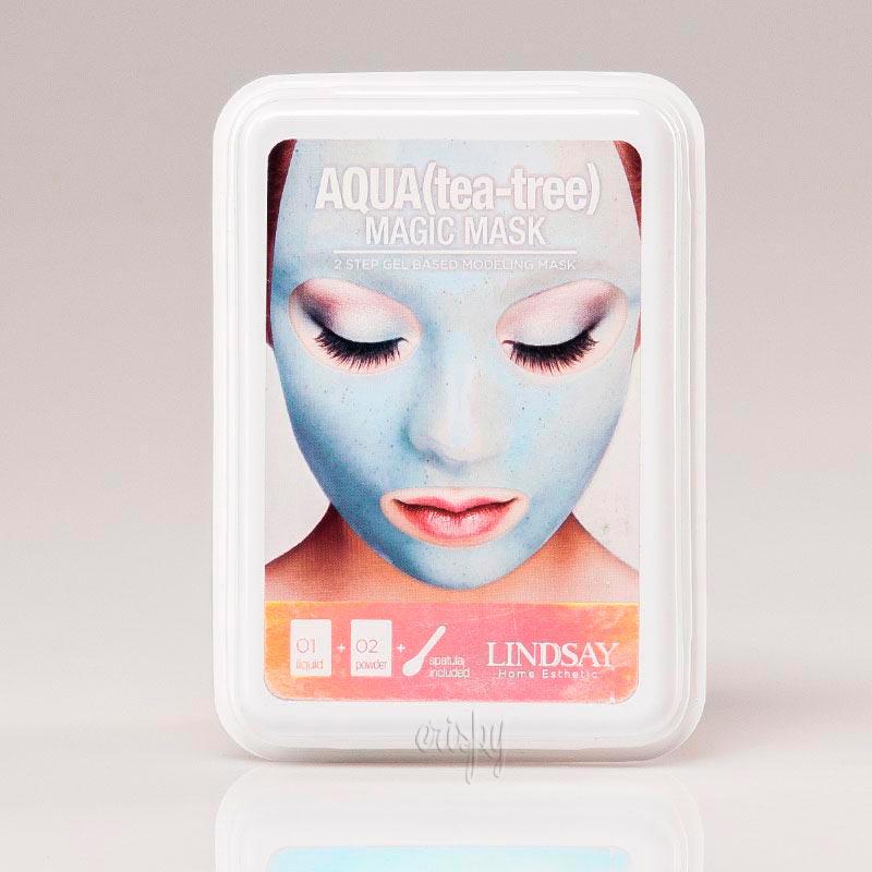 Маска для лица с коллоидным золотом Lindsay Luxury Aqua Tea-Tree Magic Mask - 65+15 г - Фото №2