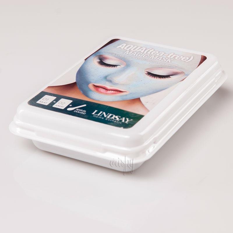 Маска для лица с коллоидным золотом Lindsay Luxury Aqua Tea-Tree Magic Mask - 65+15 г