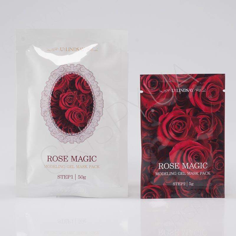 Альгинатная маска с розой Lindsay Rose Magic Modeling Gel Mask Pack - 50 г+5 г