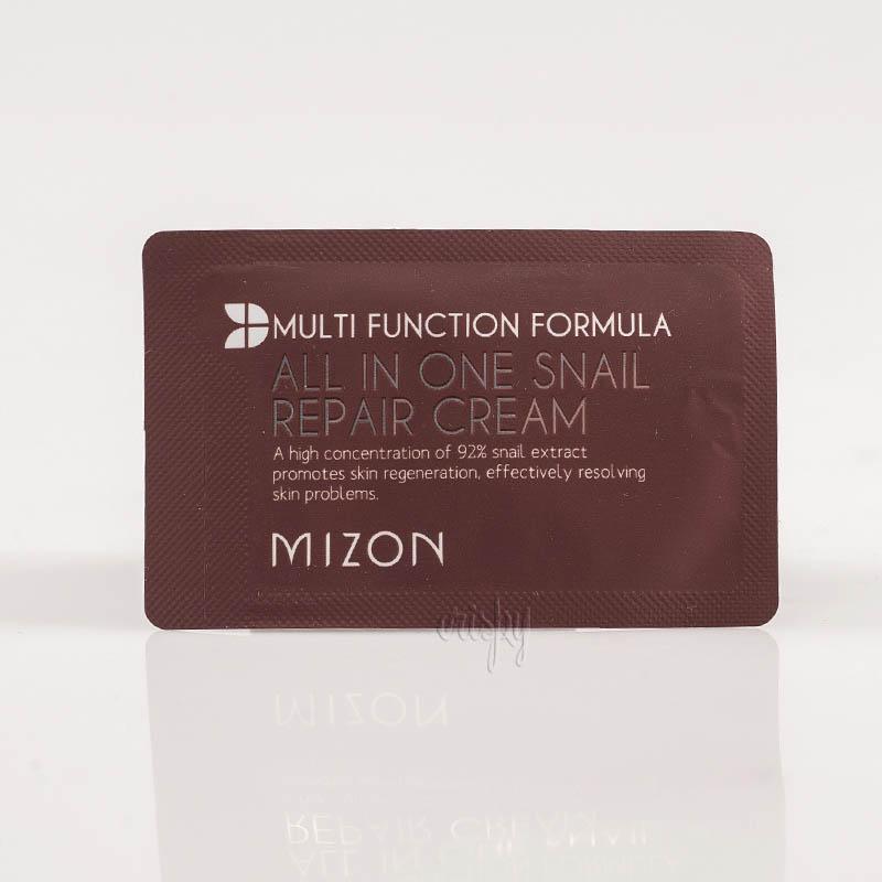 Пробник для лица с улиточным фильтратом сильнодействующий MIZON ALL IN ONE SNAIL REPAIR CREAM - 2 мл