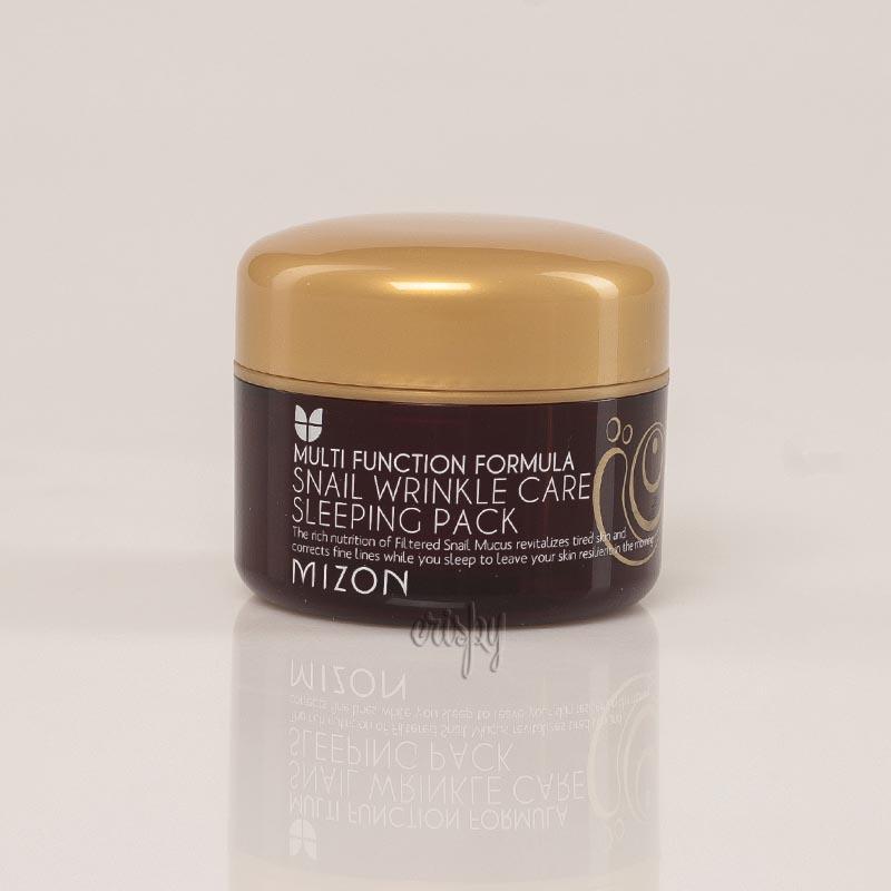 Ночная маска с 50 % муцина улитки Mizon Snail Wrinkle Care Sleeping Pack - 80 мл - Фото №2