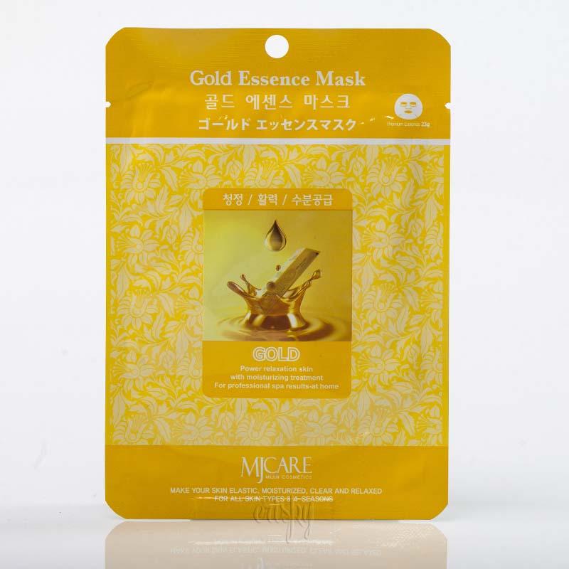 Маска для лица омолаживающая с золотом MJ CARE Gold Essence Mask  - 23 г