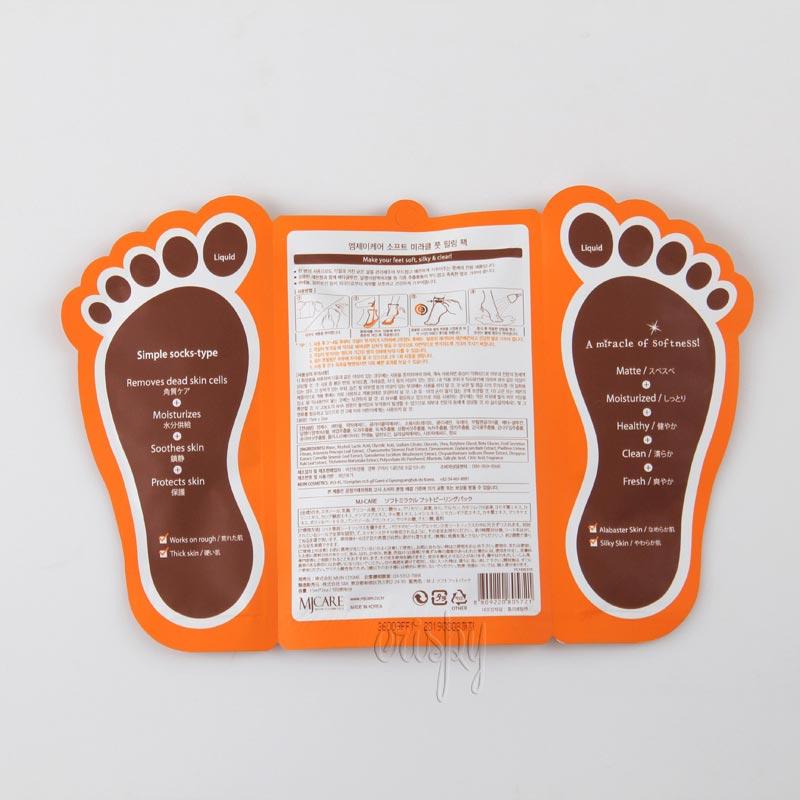 Пилинг для ног с фруктовыми кислотами MJ Care Soft Miracle Foot Peeling Pack - 15 мл