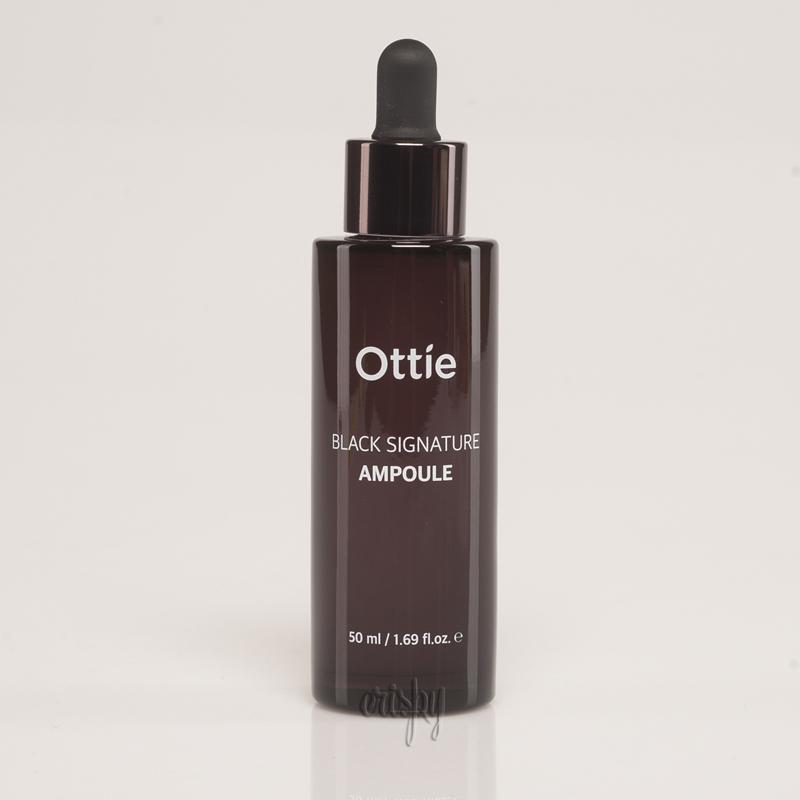 Ампульная сыворотка с муцином улитки омолаживающая Ottie Black Signature Ampoule - 50 мл - Фото №2