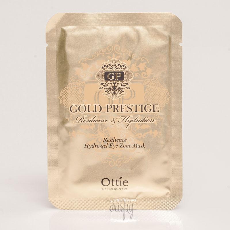 Гидрогелевые патчи под глаза с золотом Ottie Gold Prestige Resilience Hydrogel Eye Zone Mask - 1 пара - Фото №2