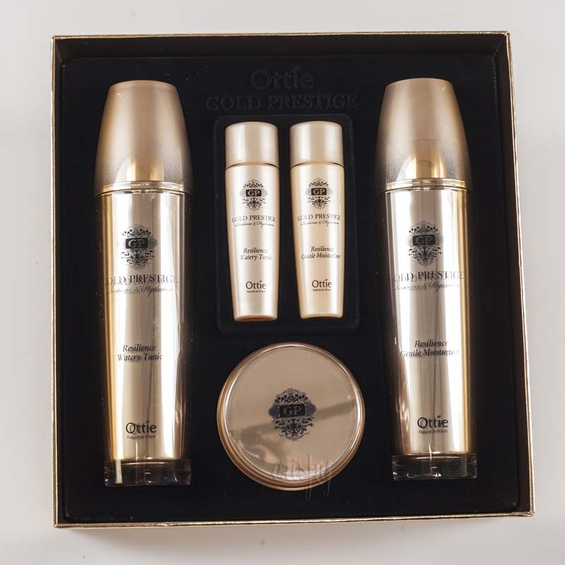 Набор антивозрастной косметики для лица Ottie Gold Prestige Resilience Skin Care Set - 5 шт.