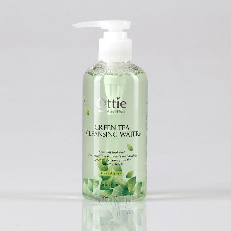 Вода для снятия макияжа очищающая Green Tea Cleansing Water Ottie - 200 мл - Фото №2