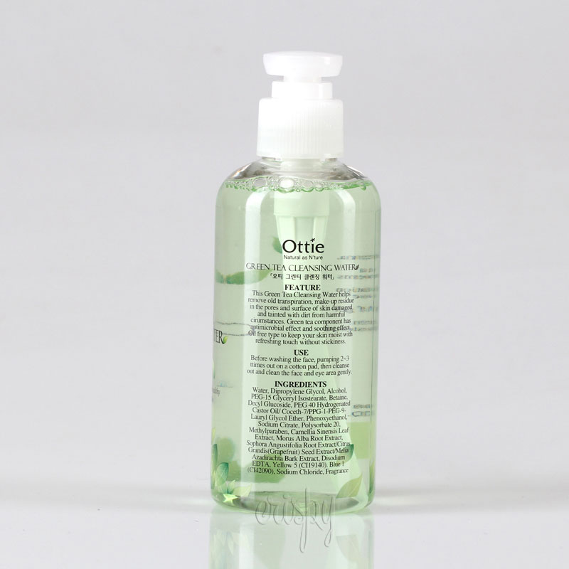 Вода для снятия макияжа очищающая Green Tea Cleansing Water Ottie - 200 мл