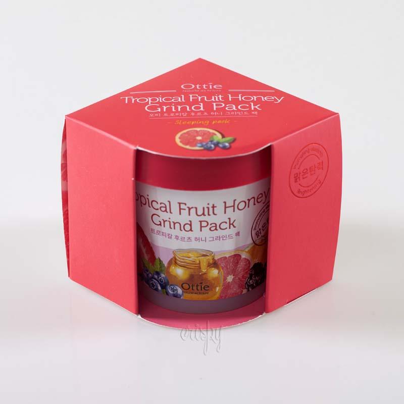 Фруктово-медовая ночная маска для лица Ottie Tropical Fruit Honey Grind Pack - 100 мл