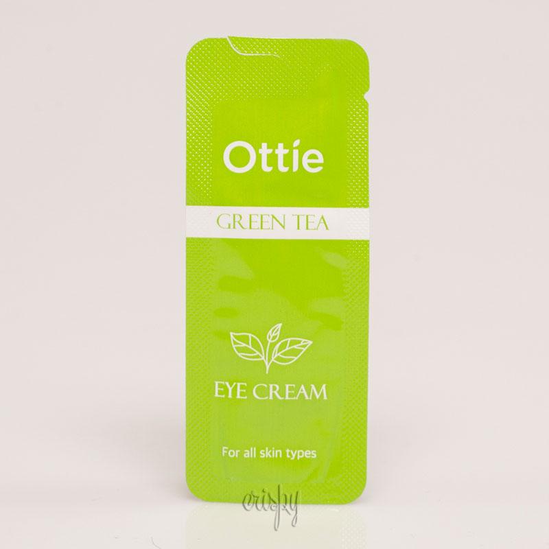 Пробник крема для век с зеленым чаем Ottie Green Tea Eye Cream - 1 мл - Фото №2