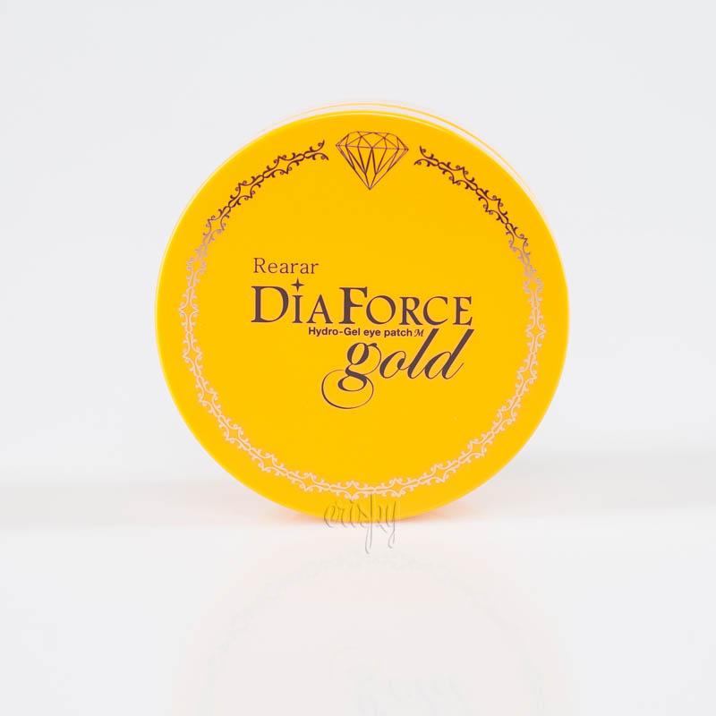 Гидрогелевые патчи с коллоидным золотом Rearar Dia Force Hydro-Gel Eye Patch M Gold - 60 шт. - Фото №2