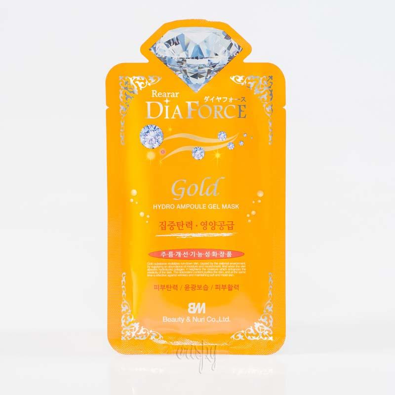 Гидрогелевая маска для увлажнения кожи с коллоидным золотом Rearar DiaForce Gold hydro Ampoule Gel Mask