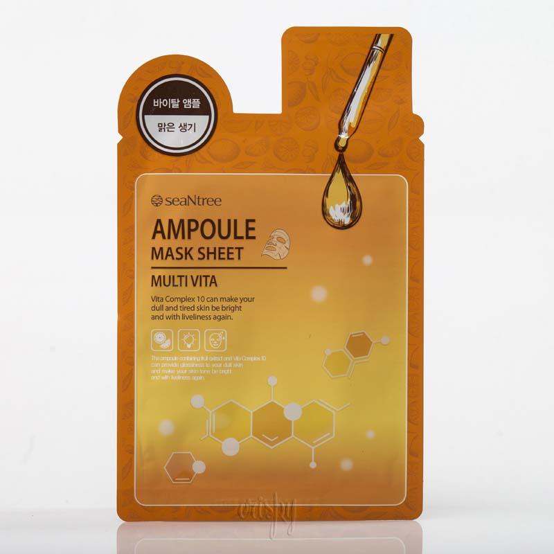 Тканевая маска с комплексом витаминов SeaNtree SNT MULTI VITA AMPOULE MASK SHEET - 20 мл - Фото №2