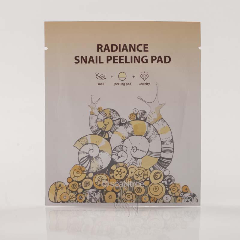 Салфетка для очищения и пилинга с улиточным фильтратом SeaNtree Radiance Snail Peeling Pad - 1 шт.