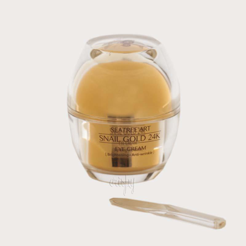 Питательный крем для глаз с золотом и улиточной слизью SeaNtree SNAIL GOLD 24K EYE CREAM - 30 г