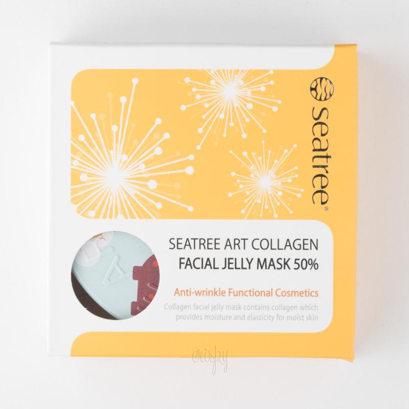 Крем-маска омолаживающая на основе свиного коллагена 50% Art Collagen Facial Jelly Mask SeaNtree - 80 мл