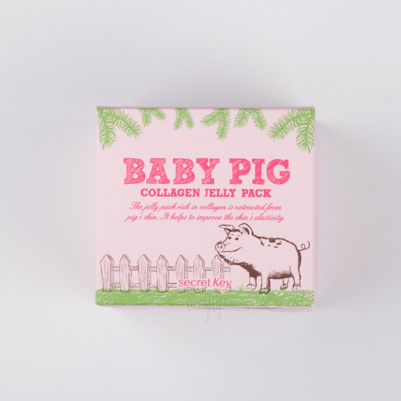 Маска с гиалуроновой кислотой и коллагеном смываемая Secret Key Baby Pig Collagen Jelly Pack - 100 мл