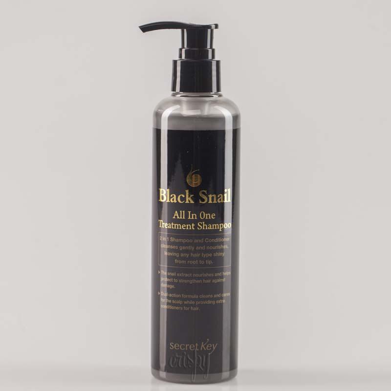 Шампунь для волос с экстрактом черной улитки Secret Key Black Snail All in One Treatment Shampoo - 250 мл