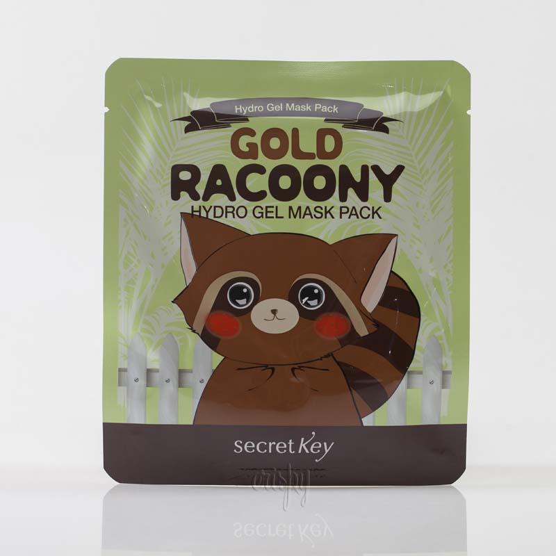 Гидрогелевая маска с коллоидным золотом Secret Key Gold Racoony Hydro Gel Mask Pack - (30 г) - Фото №2